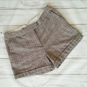 H&M wool blend houndstooth shorts